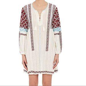 Ulla Johnson Yelena Embroidered Gauze Dress Size 8